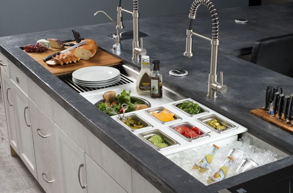 Galley sinks reinventing your kitchen cabinet genies for New trends in kitchen sinks