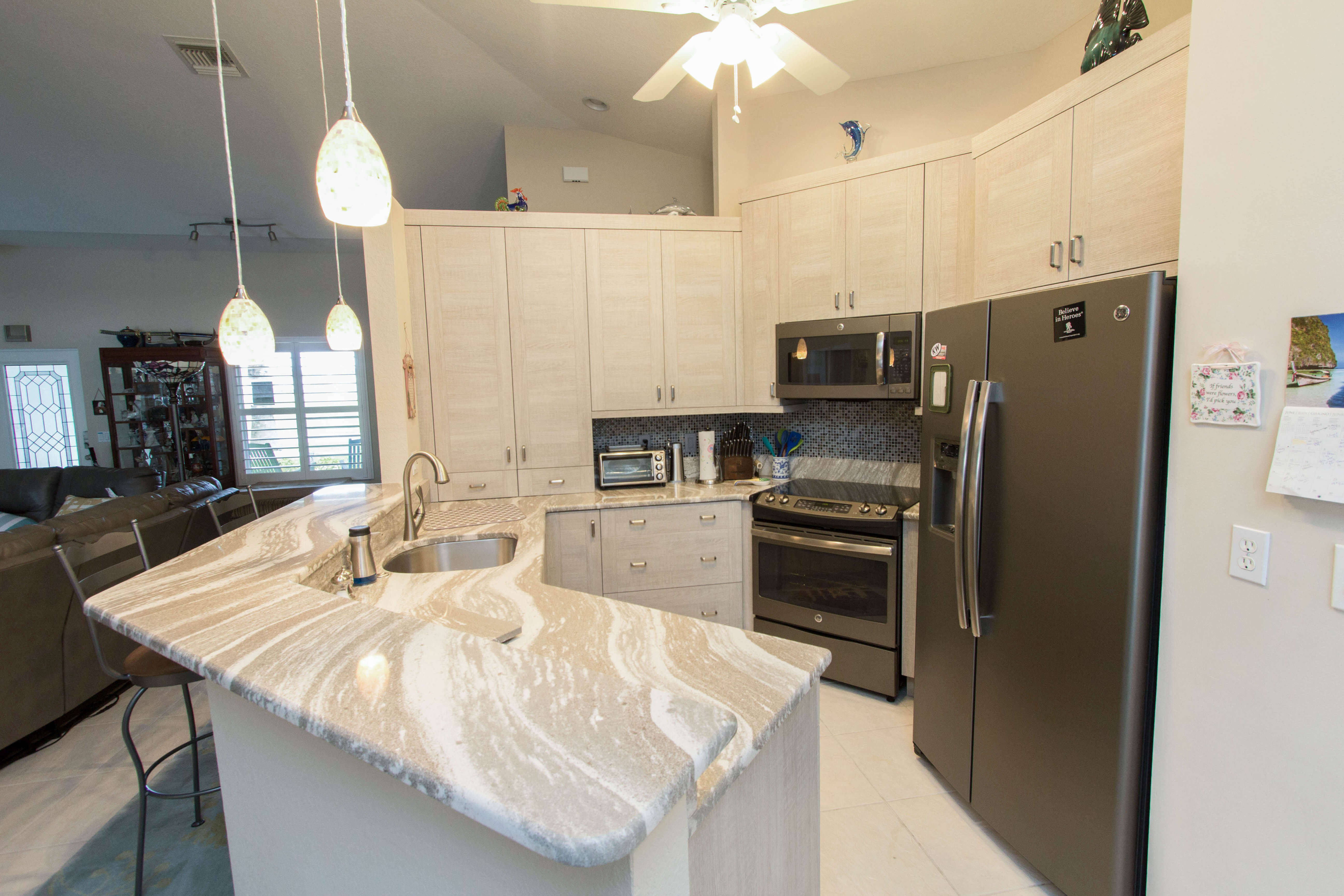 White Residence Cabinet Genies Kitchen And Bathroom Remodeling Cape Coral Fl