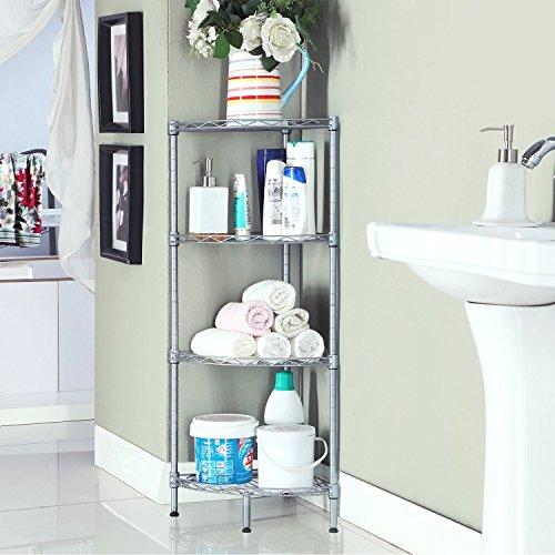 Wire bathroom shelves