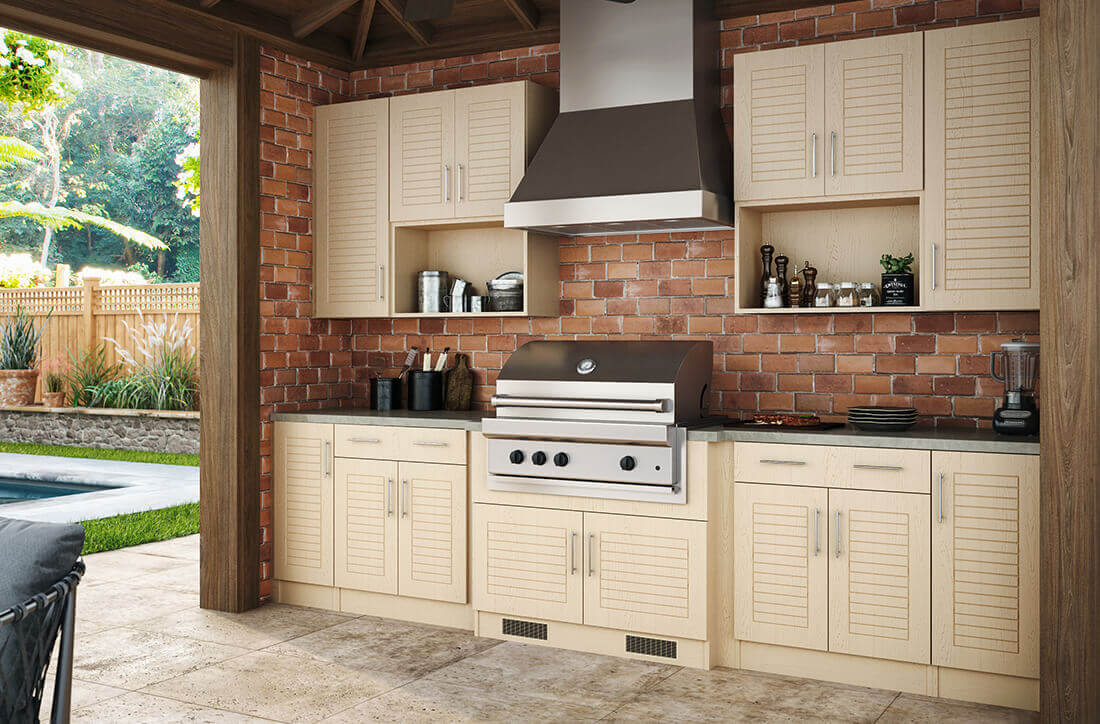 Weatherstrong Outdoor Living  Kitchen Cabinets