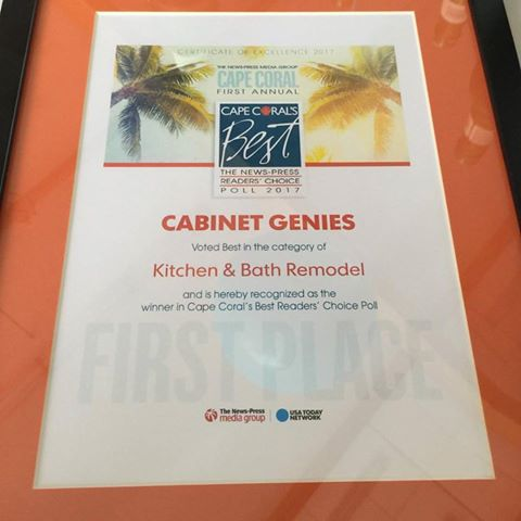 Charmant 2017 News Press Readeru0027s Choice Winners!   Cabinet Genies   Kitchen And  Bathroom Remodeling   Cape Coral, FL