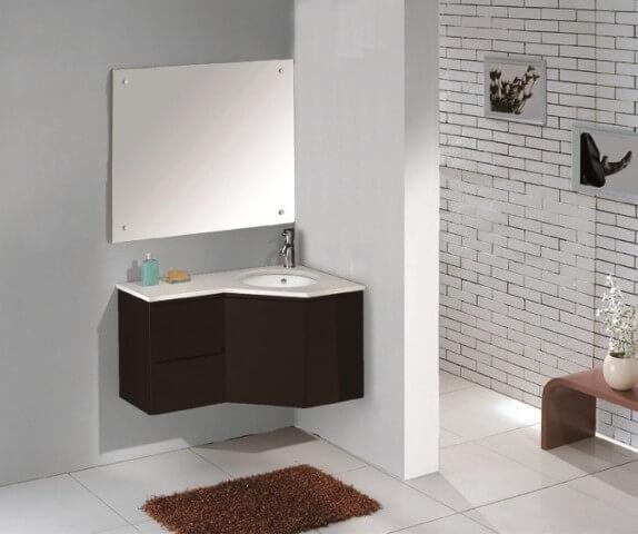 Bathroom Corner Vanities   Floating Corner Vanity   Cabinet Genies Cape  Coral FL