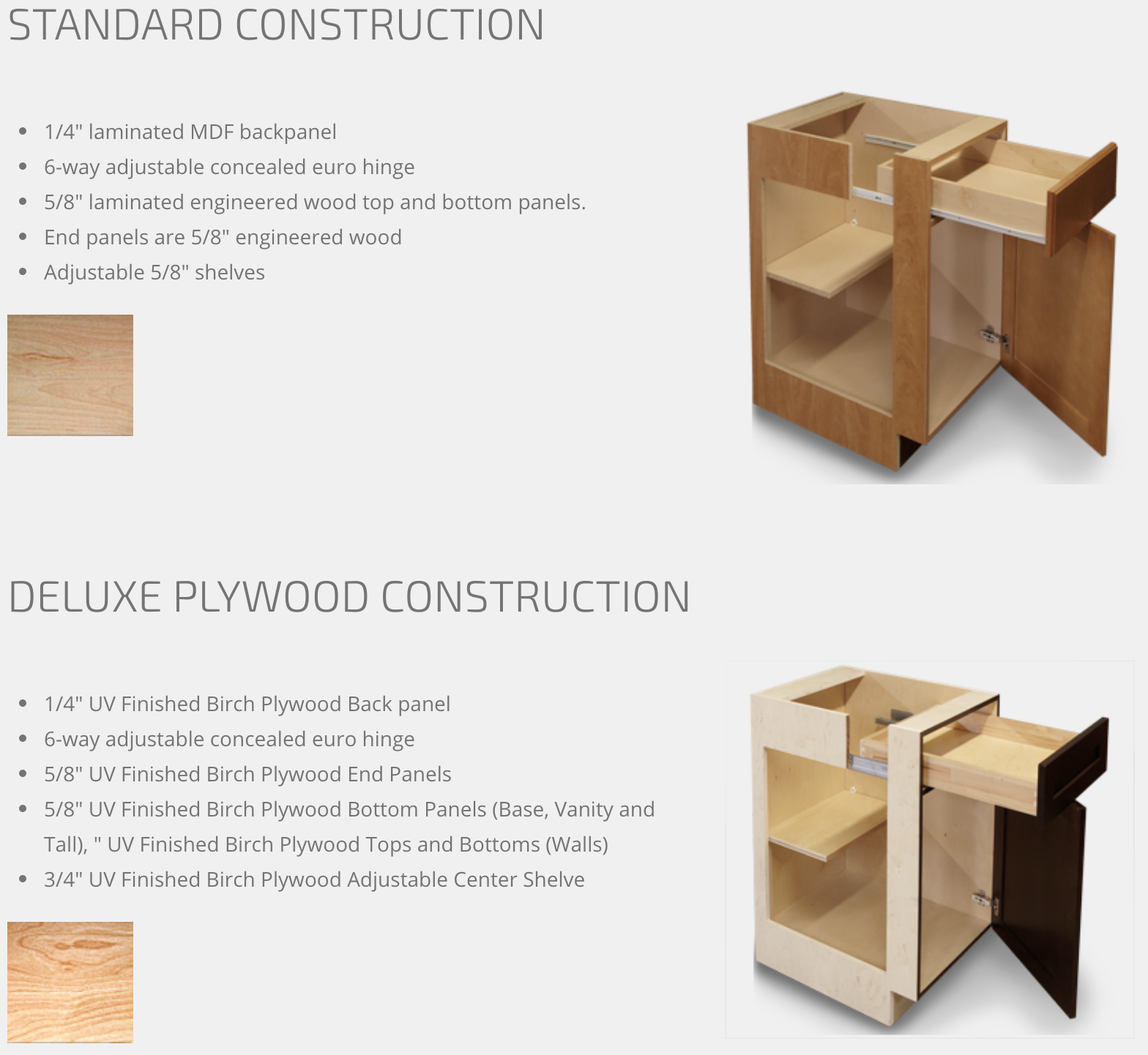 Standard and Deluxe Plywood Construction