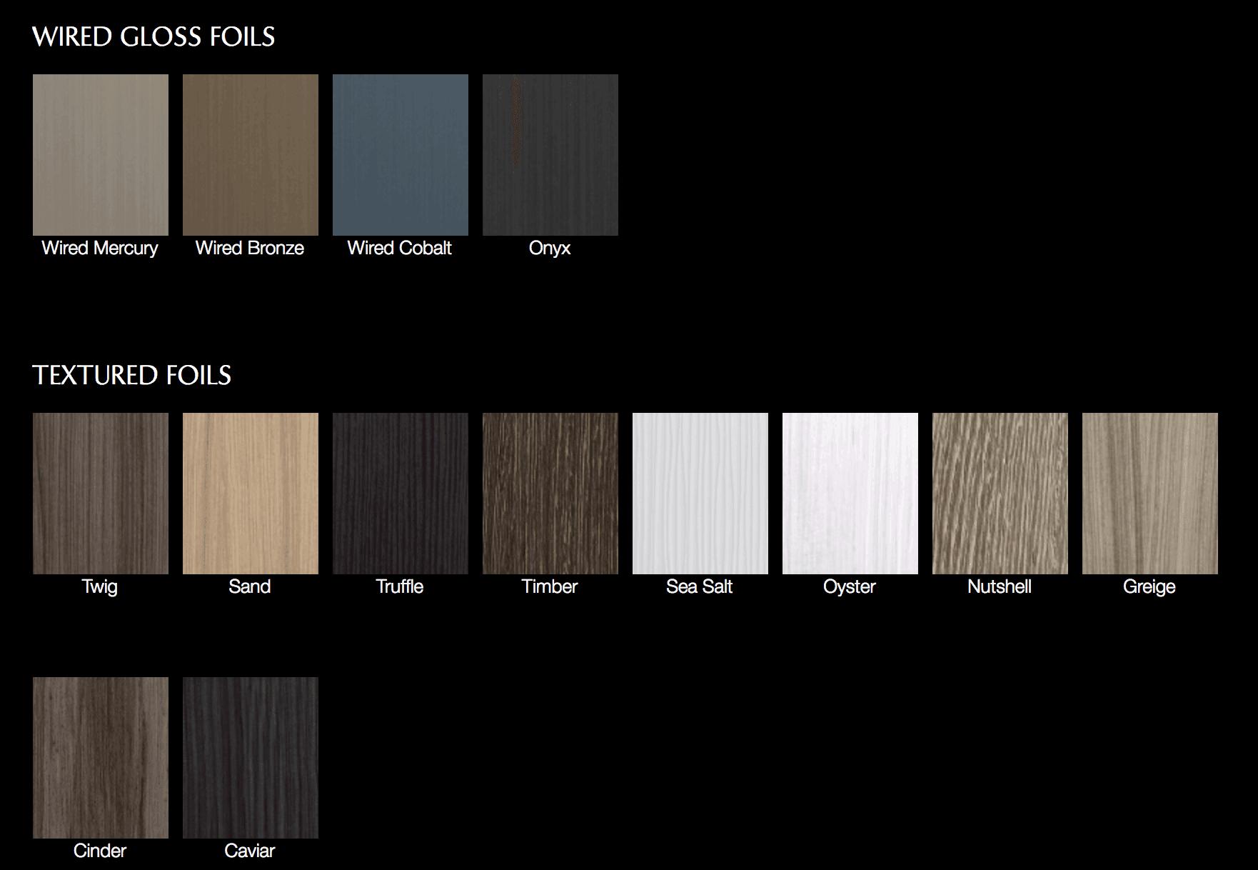 Foils & Acrylics