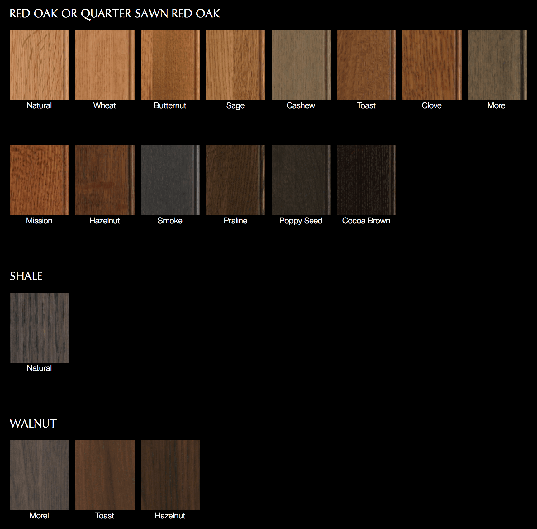 Red Oak Or Quarter Sawn Red Oak Stains