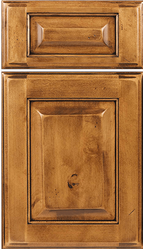 Square Raised w/five piece drawer front